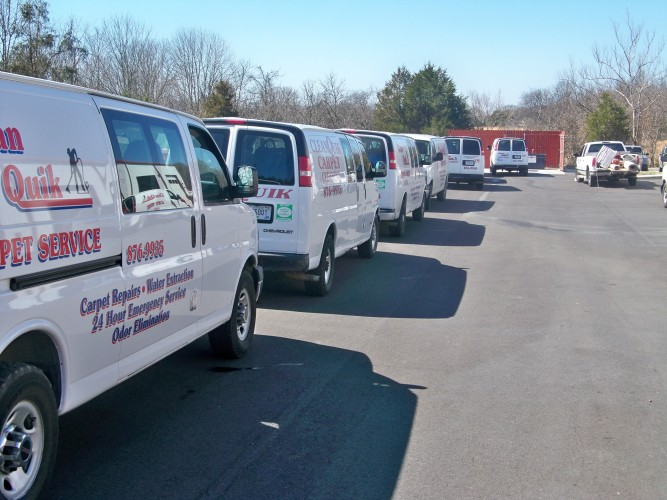 Clean Quik service trucks