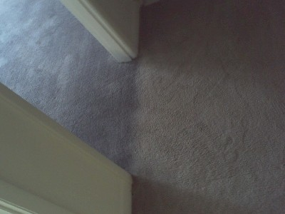 After photo of carpet