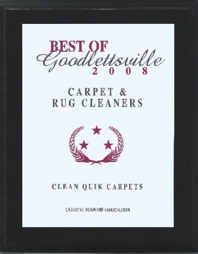 Best of Goodlettesville 2008 Plaque