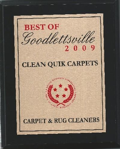 Best of Goodlettsville 2009 Plaque