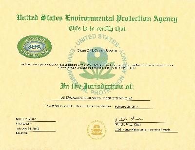 Clean Quik certificate