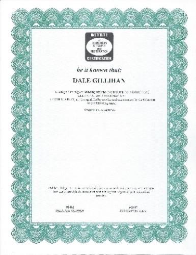 Dale's certificate