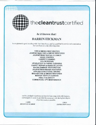 And another of Darrin's certificates