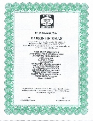 Yet another of Darrin's certificates