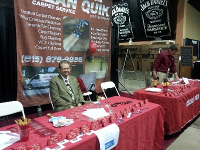 Our booth at Mid TN Home Show